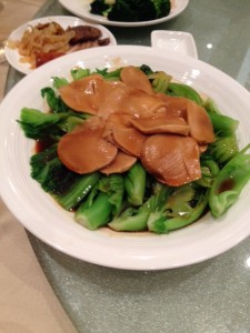 Sauteed Green Vegetables with Reishi Mushrooms