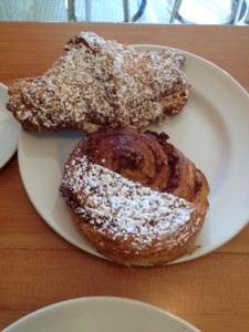 On the plate: Coconut Croissant (back), (front)