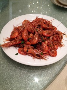 Pan-fried Prawns with soy