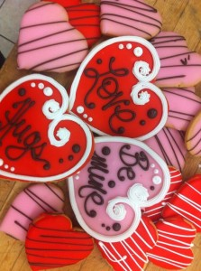 Heart Cookies at Fratelli Bakery