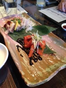 Tuna Tataki and Tomato Kimchi