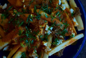 Paneer Poutine with Spicy Pulled Pork