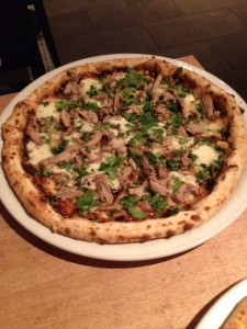 Moo Shu Bbq Duck Pizza