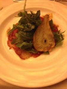 Salad of pear, bresola & arugula