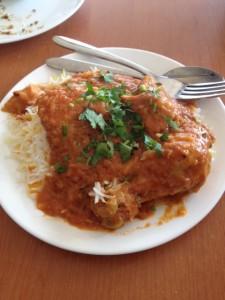 Chicken Biryani and rice