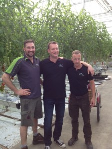 Mitch, Dirk and Adrian at Village Farms