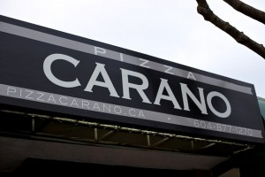 pizza carano sign