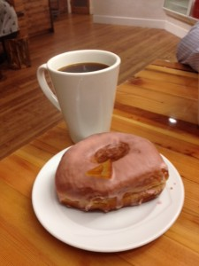 Blood Orange Glazed and a Coffee