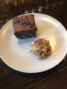 Black Bean Carob Brownie and a 3 Ingredient cookie