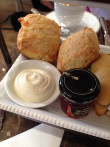 Scones on the bottom plate