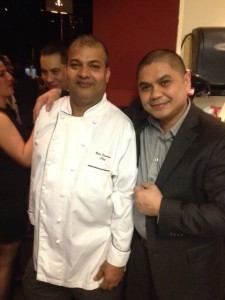Corporate Chef Bala Kumanan of Gotham Steakhouse (left) and Corporate Chef Armand Savet of Shore Club & Ki Restaurants (right)