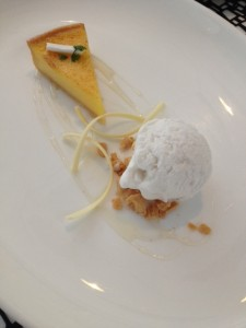 Lemon Tart with coconut sorbet