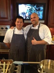Chef Montgomery Lau (left) & Chef Anthony Ricco (right)