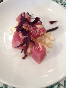 Yellowfin Tuna, Lemon Szechuan Vinaigrette