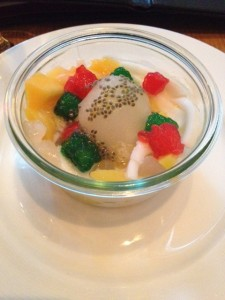 Thai Jewels, Tropical Fruits and Shaved Coconut Ice
