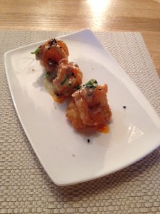 Chinois Prawns with candied walnuts