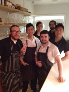 Chef Jimmy Stewart (co-owner-front left) and his team