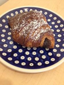 Maple glazed chocolate filled Croissant