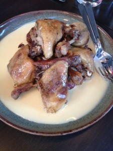 Confit Duck Leg with a spiced orange velouté!