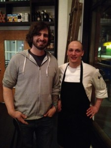 David Bowkett (founder - Powell Street Brewery on the left) & Chef Tony Marco (co-owner - Kessel & March on the right)