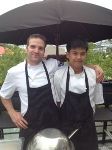 Executive Chef Michael Mikoda (L)