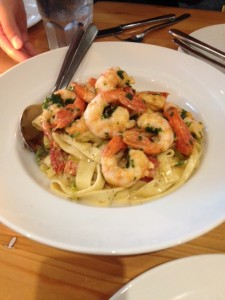 Hand-cut Pastas topped with Wild B.C. Ocean Wise Spot Prawns