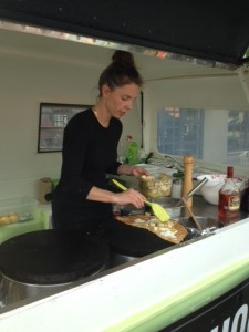 Chef/Owner Nathalie of Chouchou Crepes