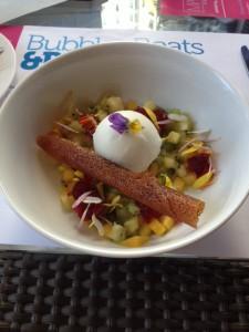 Orange Flower Yogurt Sorbet