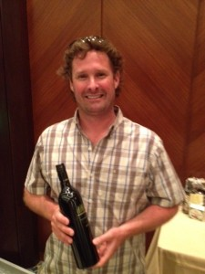 Garron Elmes - winemaker and President at Lake Breeze Wines - with his Tempest 2010