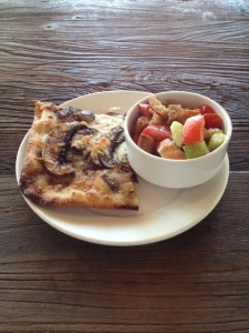 Truffle Mushroom Pizza and the Panzanella Salad