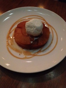 Caramelized Pineapple Cake with house-made Coconut Sorbet