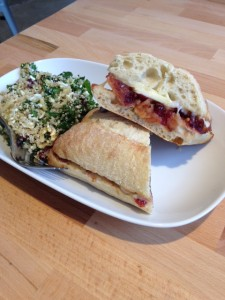 Fruit Chutney & Brie Sandwich with a Quinoa Salad