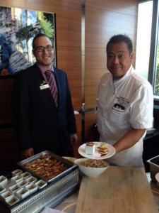 Allister Cave ( F & B Manager) & Executive Chef Robert Uy at The Apron