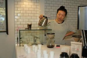 Coffee Pour at Fresh Press Coffee