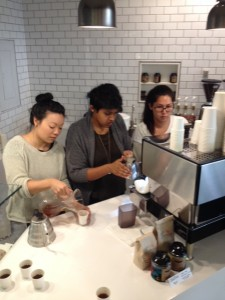 Baristas at Fresh Press Coffee