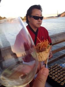 Ahi Poke Cones from Zen Japanese Restaurant