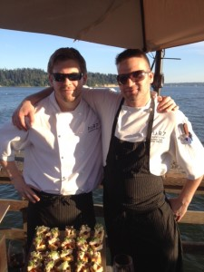 Chef Mike Mikoda (right) of Pier 7 Restaurant