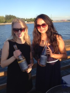 Allison Schoefield (left) from Haywire Wines
