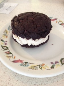 Chocolate Ice Cream Cookie Sandwich