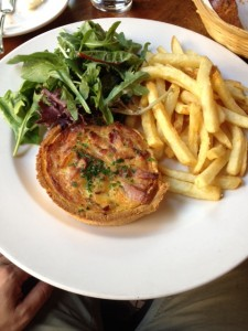 Halibut and Bacon Quiche