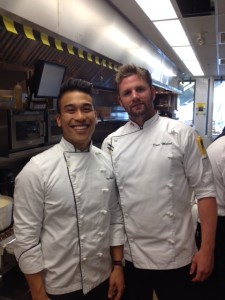 Executive Chef Paul Nguyen  (l) and restaurant Chef Dave McLeod (r)