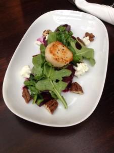 Scallop & Beet Arugula Salad