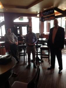 Peter Mahony (l), Mike Mahony (m) and Chris Mahony (r)