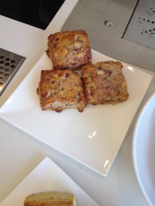 White Chocolate and Cranberry Scones