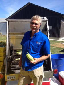Alf Krause and his roasted corn