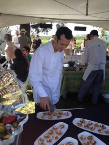 Chef Jean- Francis of Provence Restaurant with his Summer Shellfish Salad