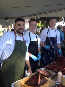 Chef Allesandro (left) and his team of chefs from Arc Dining at the Fairmont Waterfront Hotel