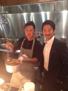 Corporate Executive Chef Kazuya matsuoka & Owner - Seigo Nakamura - at Gyoza Bar