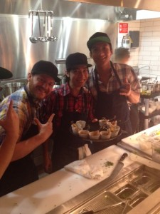 Chefs from left to right: Reed Leah, Jason Moreno and Rudito Espiritu at Gyoza Bar