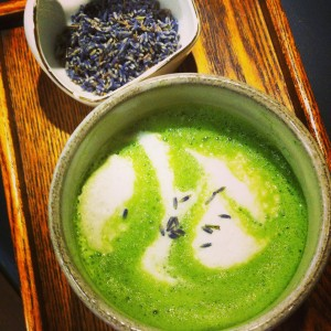Honey Lavendar infused Matcha latte
